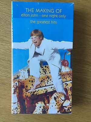 The Making Of Elton John - One Night Only - Vhs Promo Video - New And Sealed