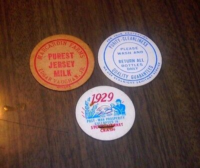 Lot of Collectible Milk Bottle Caps  = Junk Drawer Find