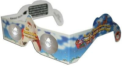 Santa Holiday Specs Holographic Glasses Quantity Discounts