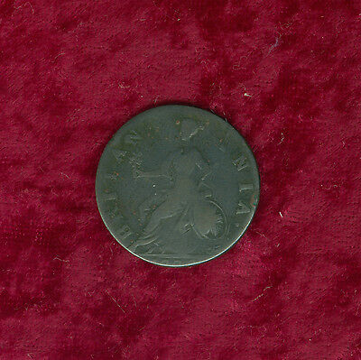 1770 Great Britain Half Penny Struck on Small Planchet