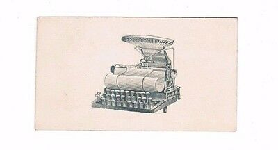 Fitch Type Writer  Inventor Calling Card  Eugene Fitch 1888