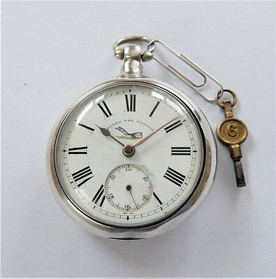 1890 Silver Pair Cased Fusee Pocket Watch D Lumsden Anstruther Working