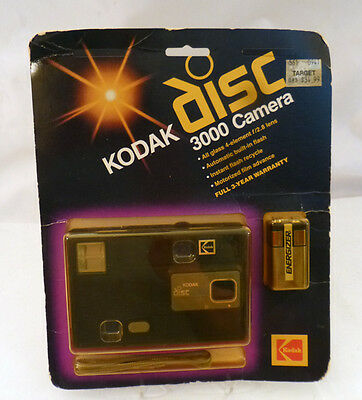 KODAK DISC 3000 CAMERA Vintage 1980's NEW ON CARD~NEVER OPENED