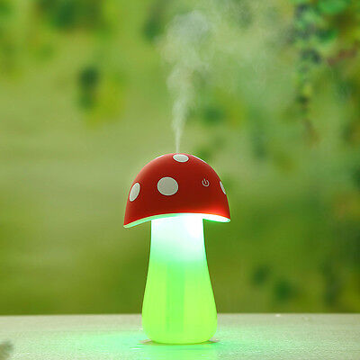 Home Aroma LED Humidifier Mushroom Air Diffuser Purifier Atomizer