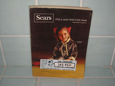 Vintage Sears 1968 Fall/Winter Catalog Clothes Furniture Electronics Bikes