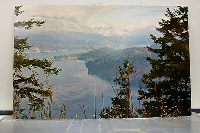 Canada British Columbia Burnaby Mountain Indian Arm Postcard Old Vintage Card PC