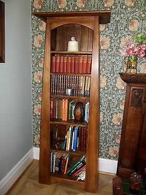 Angled - A Line Bookcase - Arts & Crafts Style Book Case / Shelves
