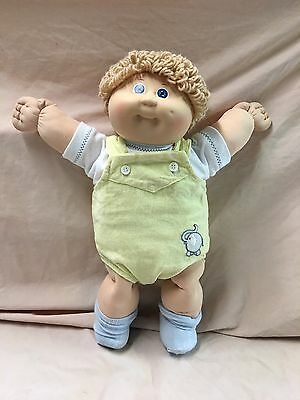 Vintage 1980's Cabbage Patch Kids Baby Boy Doll~brown Hair/blue Eyes