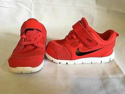 Nike Free 5 Infant/toddler Boys Black/red Shoes~size 8 C