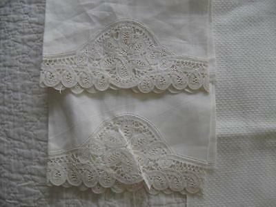 Vintage Antique LOT of 13 Tea-Hand-Kitchen-Guest Towels-All White & Cream