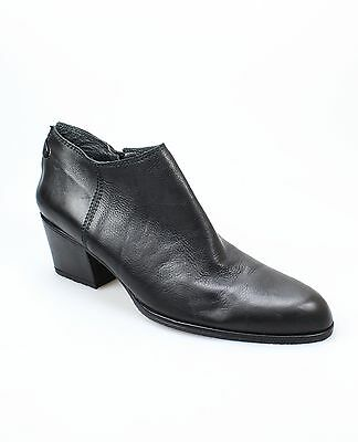 Stuart Weitzman NEW Black Shoes Size 7.5AAA Ankle Leather Booties $430- #758