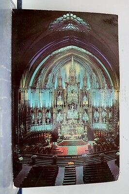 Canada Notre Dame Church Montreal Postcard Old Vintage Card View Standard Post