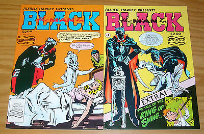 the Man in Black #1-2 VF/NM complete series - recollections - bob powell reprint
