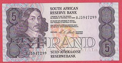 1990/94 South Africa 5 Rand Note Unc