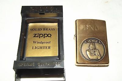 Vintage Zippo Camel Lighter With Box, Solid Brass, 1932-1992