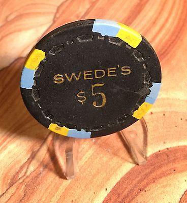 Vintage Swedes Casino $5 Poker Chip From Reno, Nevada!