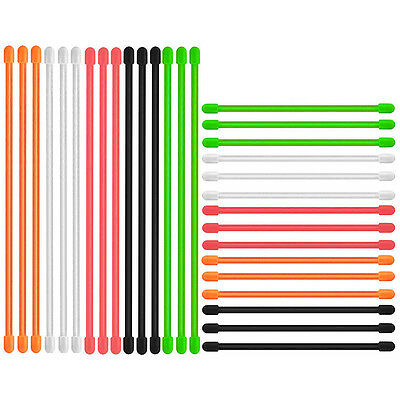 """5/10/20PCS Reusable 3"""" 6"""" Silicone Rope Multi Use Straps Gear Cable Twist Ties"""