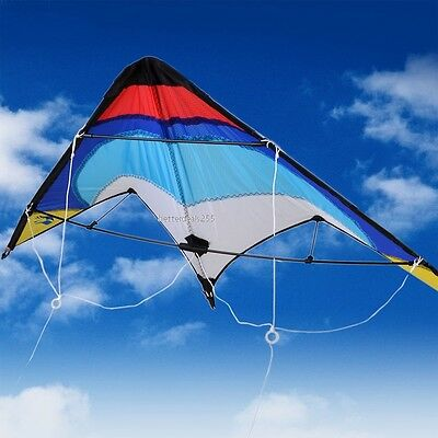 Professional Sporty Stunt Kite Dual Line Control Windy Outdoor Leisure Casual