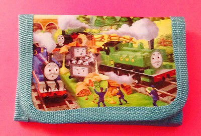**Thomas The Tank Engine & Friends**  Children's Trifold Wallet Powder Blue NEW!