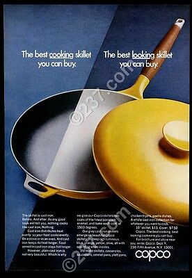 1969 Copco cast iron skillet with yellow lid photo vintage print ad