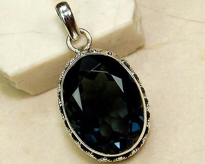 8CT Sapphire  925 Solid Sterling Detailed Design Pendant Jewelry, S5-3