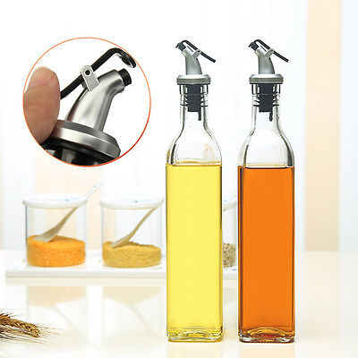 500ml 18oz Glass Olive Oil Vinegar Dispenser Wine Pourer Bottle Kitchen Cooking
