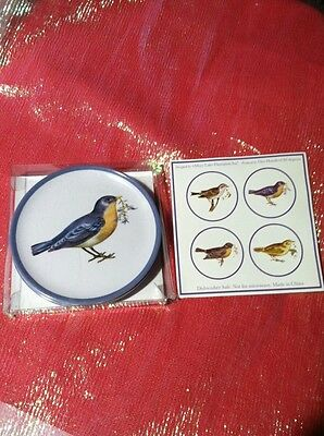 "180 DEGREES MARY LAKE THOMPSON SONG BIRDS 4 1/2 "" SIDE PLATE SET OF 4 New RARE"