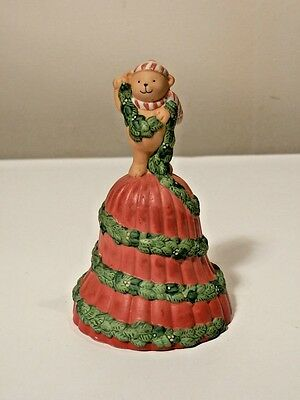 1991 Avon Porcelain Garland Of Greeting Christmas Bell Excellent