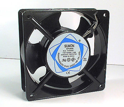 NEW SUNON MUFFIN COOLING FAN, 115 VAC 50/60 Hz, 120mm SQUARE BY 38mm COMPUTER