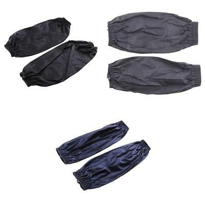 Black +Gray +Navy PU Leather Waterproof Cuffs Kitchen Cooking Oversleeve Sleeve