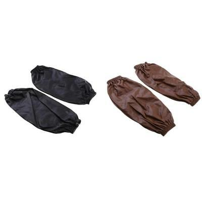 Waterproof Sleeves Cuffs in Brown +Black with Elastic Line for Laboratory