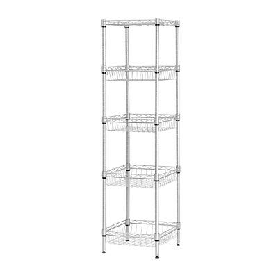 Storage Rack 5-Tier Organizer Kitchen Corner Shelving Steel Wire Shelves