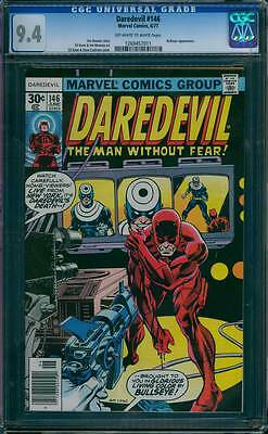 Daredevil # 146  DD's Death Brought to you by Bullseye !  CGC 9.4  scarce book !