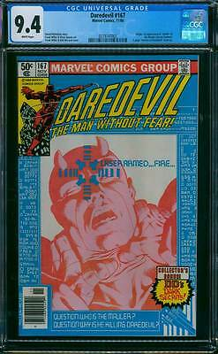 Daredevil # 167  Who is the Mauler ? Frank Miller ! CGC 9.4  scarce book !