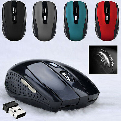 2.4GHZ Wireless Mouse Cordless Optical Scroll Wheel Mouse PC Laptop USB Receiver