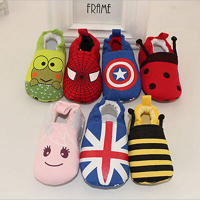 Newborn Infants Baby Boys Girls Soft Crib Shoes Moccasin Prewalker Sole Shoes