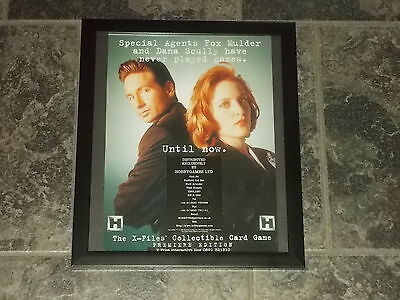 X Files collectible card game-1996 Original advert framed