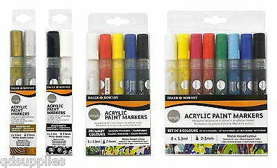 Daler Rowney Simply Acrylic Paint Marker Pens Water Based Colours Ceramic Glass