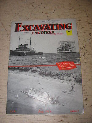 July 1947 Excavating Engineeer Construction Magazine Rogers Trailers Bucyrus
