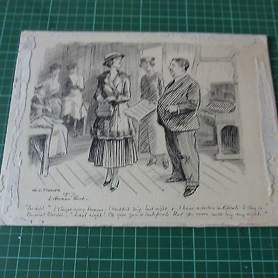 G.l Stampa Original Drawing Signed 1917