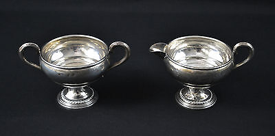 Vintage Sterling Silver Creamer & Sugar Set .925 Weighted 152 Grams (3890)