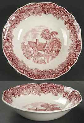 J & G Meakin ROMANTIC ENGLAND RED Fruit Dessert (Sauce) Bowl 351355
