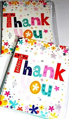 THANK YOU CARDS IN PACKS OF 6 X 12 PACKS- just 25p PER 6 PACK, EXCELLENT! (B341