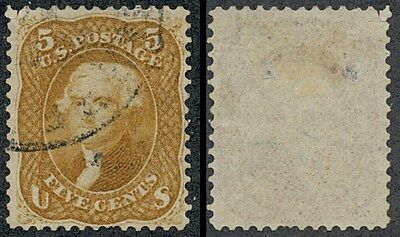 drbobstamps US Scott #67 (Faults - With One Short Perf) Used Stamp Cat $1100