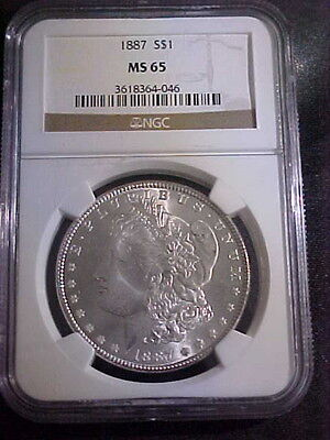 US 1887 Morgan Silver Dollar MS65 NGC