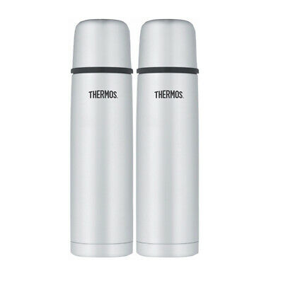 Thermos Vacuum Insulated 32 Ounce Compact Stainless Steel Beverage Bottle - 2PK