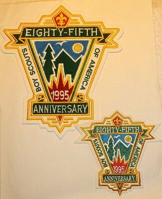 Boy Scout 85th Anniversary of Scouting 1995 Patches / 1, 2005 Patch 95th Anni.