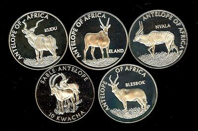 Malawi 2003 10 Kwacha - Antelopes Of Africa Series - 5 Coin Proof Set