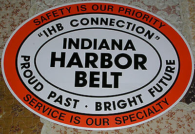 "IHB-Indiana Harbor Belt Railroad 10 3/4"" x 15"" OVAL  Peel and Stick Decal"