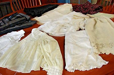 Large Lot Antique Victorian Early 1900S Clothing Blouse Skirts Petticoats